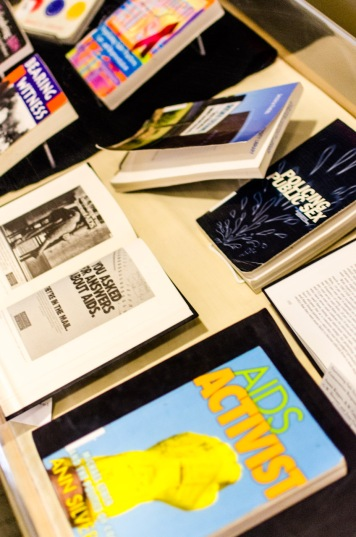 "Our book display featured a variety of materials related to AIDS activism, including Silversides' ""AIDS Activist."" Philippe Dorman photography: https://500px.com/arnhemland"