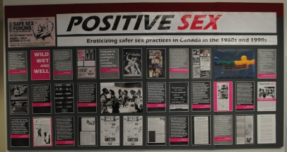 "Our didactic panel opens with the line ""POSITIVE SEX explores how AIDS activists eroticized safer sex practices in Canada in the late 1980s and early 1990s."" Philippe Dorman photography: https://500px.com/arnhemland"