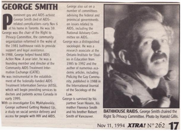 George obituary