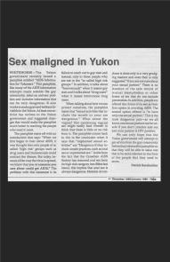 Sex maligned